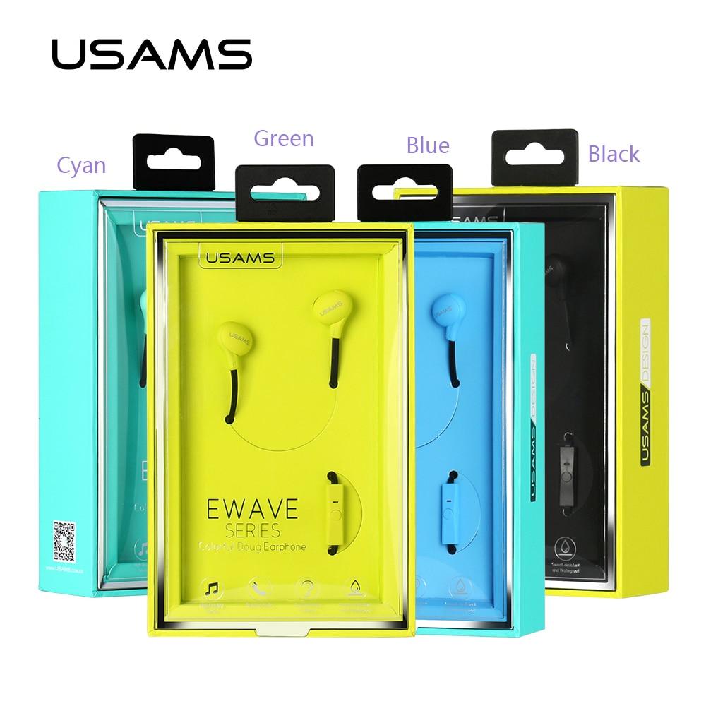 USAMS 1.2m In Ear Wired 3.5mm Colorful Doug Earphone Waterproof ...