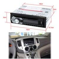 רכב MP3 FM במקף סטריאו Aux רכב אודיו נגן DVD/CD/MP4/WMA רדיו אנטי הלם חריץ SD USB מקלט תצוגת שעון דיגיטלית
