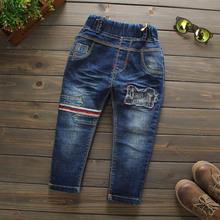 Hot Selling 2016 New Spring Autumn Boys Trousers Fashion Kids Stretch denim Pants Casual Jeans Children