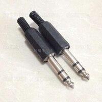 100 Pcs 6.3mm Mâle Trs 1/4 pouces Stéréo Jack Audio Plug Connecteur À Souder