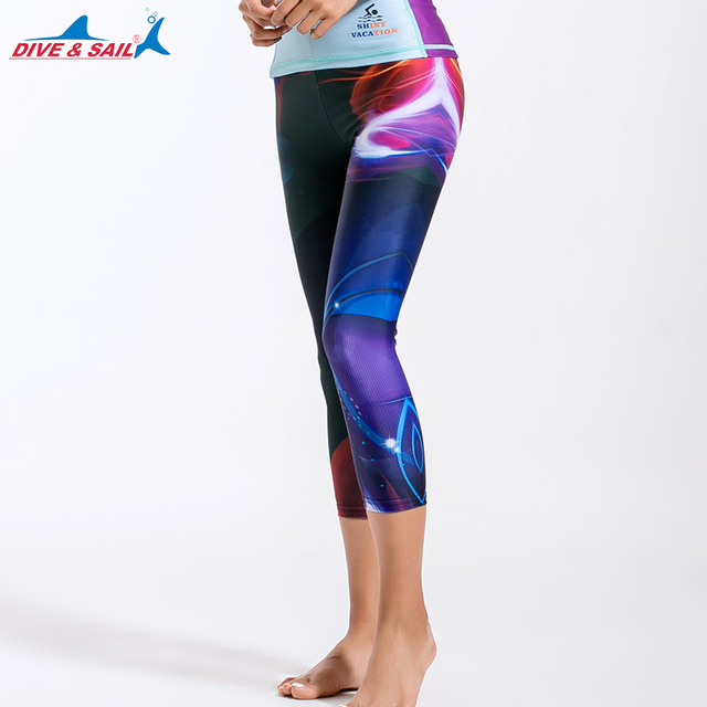 f1854f9ed83 Women s Active Fitness Capris Leggings Running Tights Yoga Pants Swim  Bottom UV Sun Protection Cropped Swimming