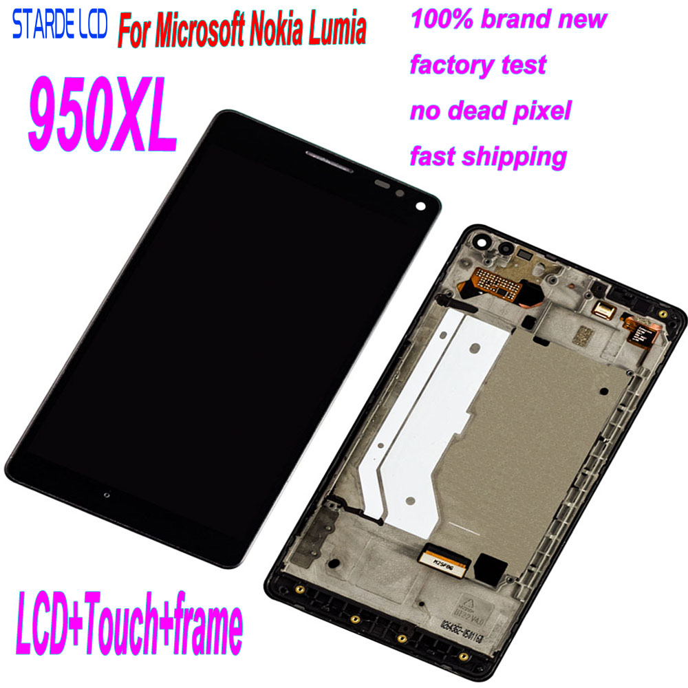 Starde LCD For Nokia <font><b>Lumia</b></font> <font><b>950</b></font> XL 950XL LCD Display Touch Screen Digitizer Assembly+Frame Replacement <font><b>Parts</b></font> image