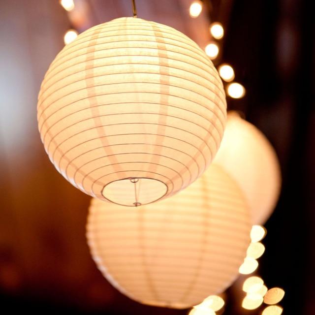 10 cái/lốc (6, 8, 10, 12, 14) 16 LED Trắng ấm Đèn Lồng Đèn Giấy Trung Quốc Bóng Lampions Cho Tiệc Cưới,