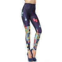 NADANBAO Women S Pants New Custom Legging 3d Digital High Waist Elastic Slim Legins Fashion Tetris