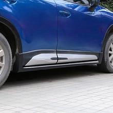 Для Mazda CX-5 CX5 2013 аксессуары 4 шт./компл. ABS хромированные Пластик боковой молдинг крышка обшивки двери кузова Наборы