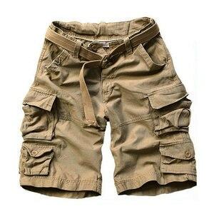 Image 5 - 2020 sommer Mode Militär Cargo Shorts Männer Hohe Qualität Baumwolle Casual Herren Shorts Multi tasche (Freies Gürtel)
