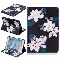 Painted PU Leather Stand Case For Apple IPad Mini 4 Case Folio Stand Protector Case For
