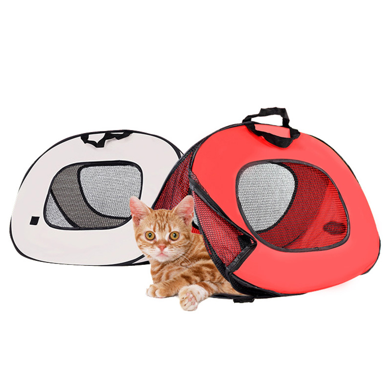Pet Cat Carrier Bag Cage Portable Collapsible Multi-functional Tent Shape Design Patrern Folding Easily for Dog Cat 1