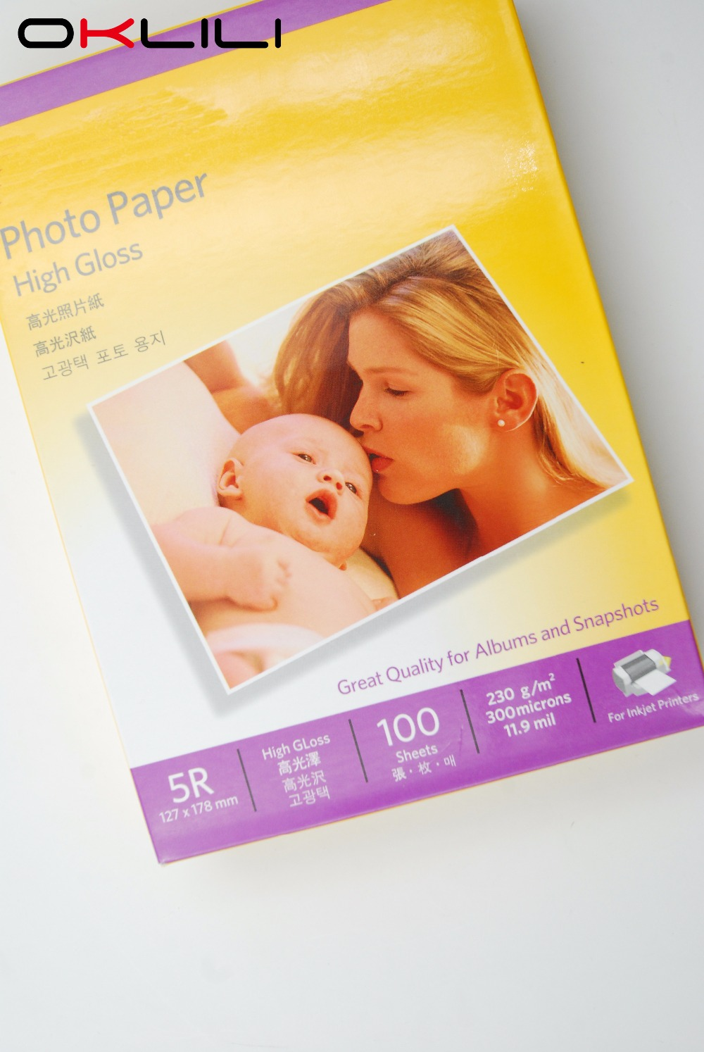 ORIGINAL for Kodak 5R x 100 High Gloss glossy Photo Paper 127 x 178 mm 100 sheets 230g 300 microns 11.9 mil for Inkjet Printer