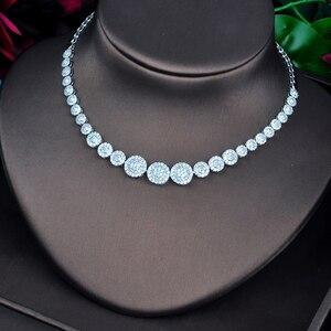 Image 3 - Ensemble de bijoux, rond, pavé de mode pour femmes, ensemble de bijoux, collier, boucle doreille, accessoires de fête, nouvelle collection N 742