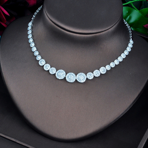 Image 3 - HIBRIDE New Round Micro CZ Pave Fashion Jewelry Sets For Women Necklace Earring Jewelry Accessories Party Gifts N 742