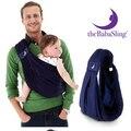 A maioria dos 2015 popular BabaSling algodão Respirável Esponja Suspensórios Bebê Portador Infantil Recém-nascidos envoltório Mochilas Estilingue Ajustável
