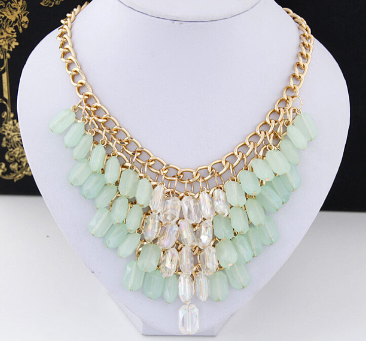 product New SBY1060 Fashion Bohemia Article Belong Joker Candy Chokers chunky beaded necklaces For Women Jewelry