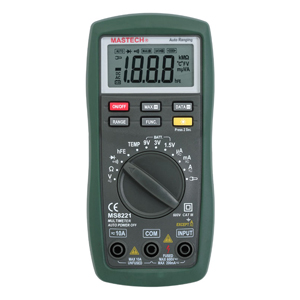 Mastech MS8221C 1999 counts Digital Multimeter Auto Manual Ranging DMM Temperature Capacitance hFE Test new ms8221c digital multimeter auto manual ranging dmm temperature capacitance hfe tester