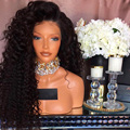 8A Thick Front Lace Wig Mongolian Kinky Curly Human Hair Full Lace Wig Unprocessed Human Hair Glueless Lace Front Wigs