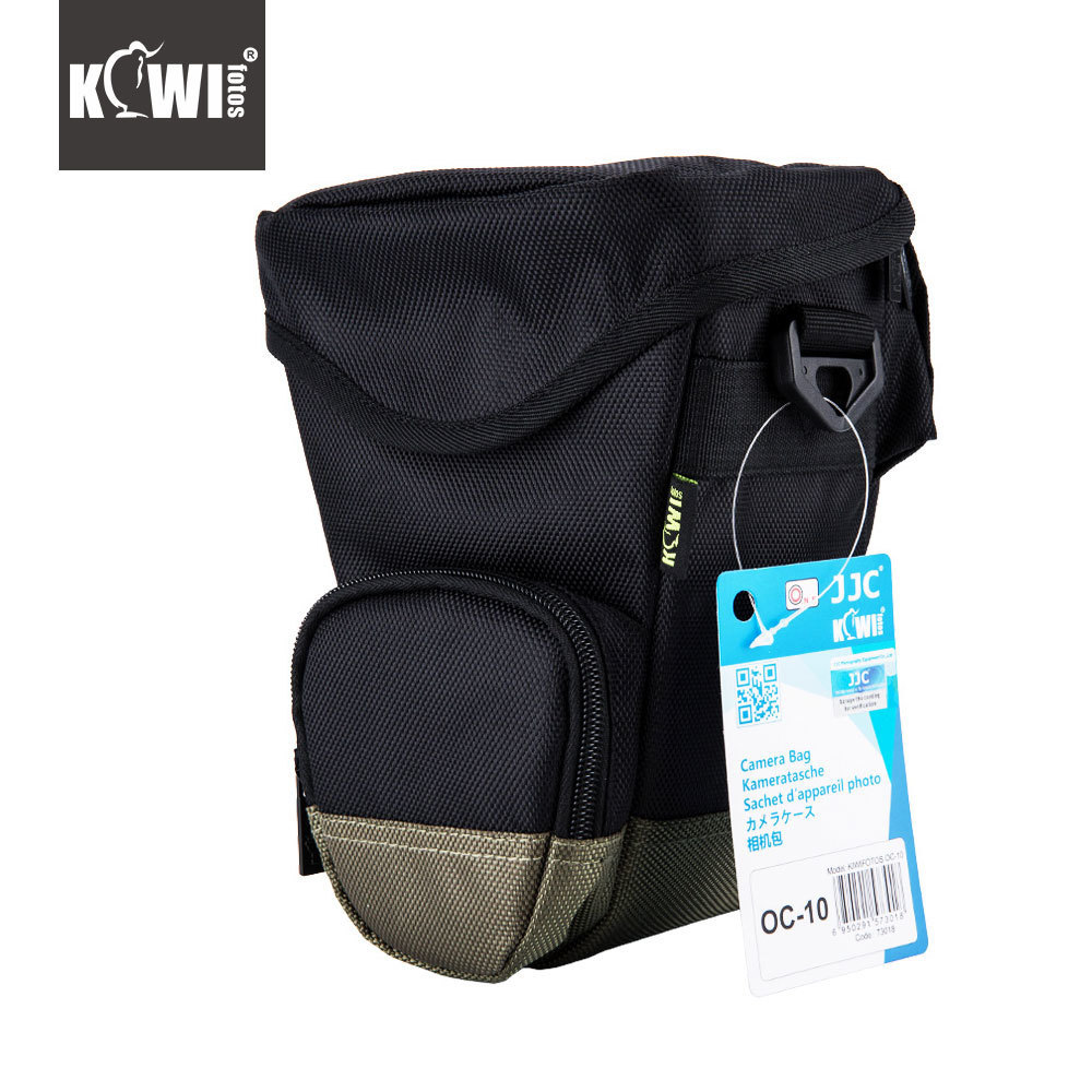 JJC Polyester Camera Bag DSLR SLR Lens Waist Packs Case Protector for Canon 80D 60D 750D 760D Nikon D7200 D7100 D5500 D5300 dslr camera backpack padding lens divider insert bag with 15 laptop pack travel bag for canon 5d 7d 600d nikon d7200 sony a6000