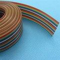 10 metros/lote fita cabo 26 WAY Plano Color Rainbow Ribbon cable Arco Íris Cabo 26 P cabo de fita de 1.27 MM pitch