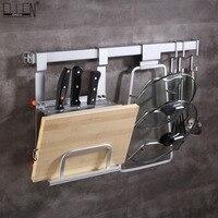 Aluminum Kitchen Storage Holders Knife Tool holder Kitchen Shelf Wall Mounted Kitchen Kitchen Shelf Hook EK8801C