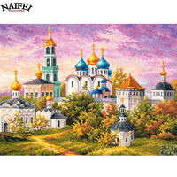 Diy 5d Diamond Painting Cross Stitch Diamond Embroidery Religion Church Resin Pasted Diamond Patterns Diamond Cross