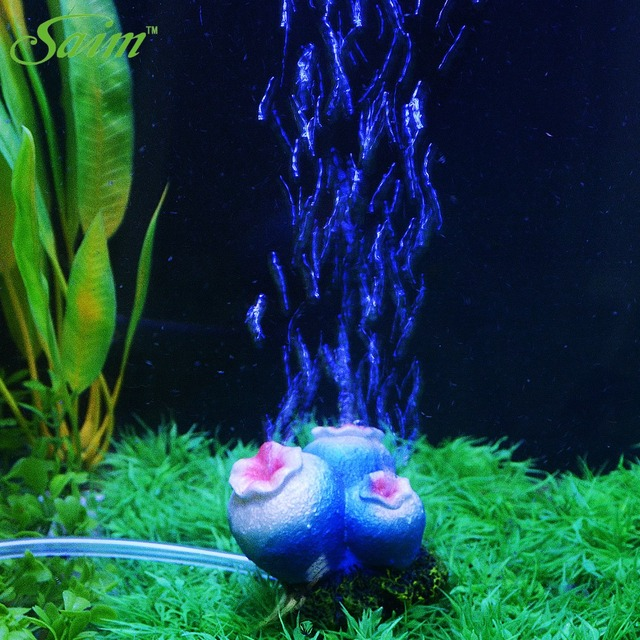 Flower Shape Aquarium Fish Tank Decor Acuarios Oxygen Pump Air