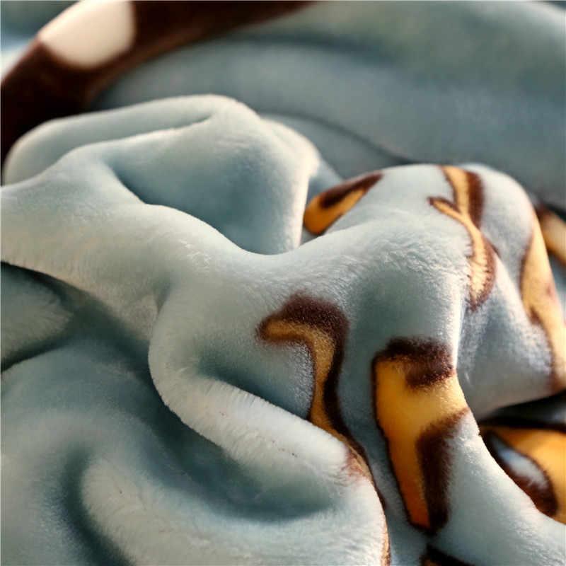 Мягкое теплое плотное пушистое рашелевое одеяло Двухслойное мультяшное дизайнерское Фламинго единорог с принтом норки пледы зимнее Флисовое одеяло s