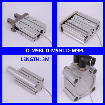10Pcs/lot Solid  State Auto Switch Direct Mounting Type D-M9B D-M9N D-M9P D-M9BL D-M9NL D-M9PL Magnetic Senson  For Air Cylinder