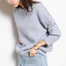 autumn and winter Sweater women solid color Knitted Slim Pullover young girls full Sleeve o-neck warm Elegant sweaters A125