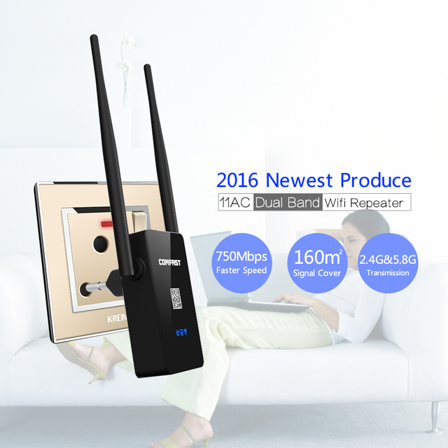 COMFAST Dual Band 750M WIFI Extender Repeaters 2.4G/5.8G 802.11AC Wireless Wi fi WI-FI repeater signal amplifier Roteador Router