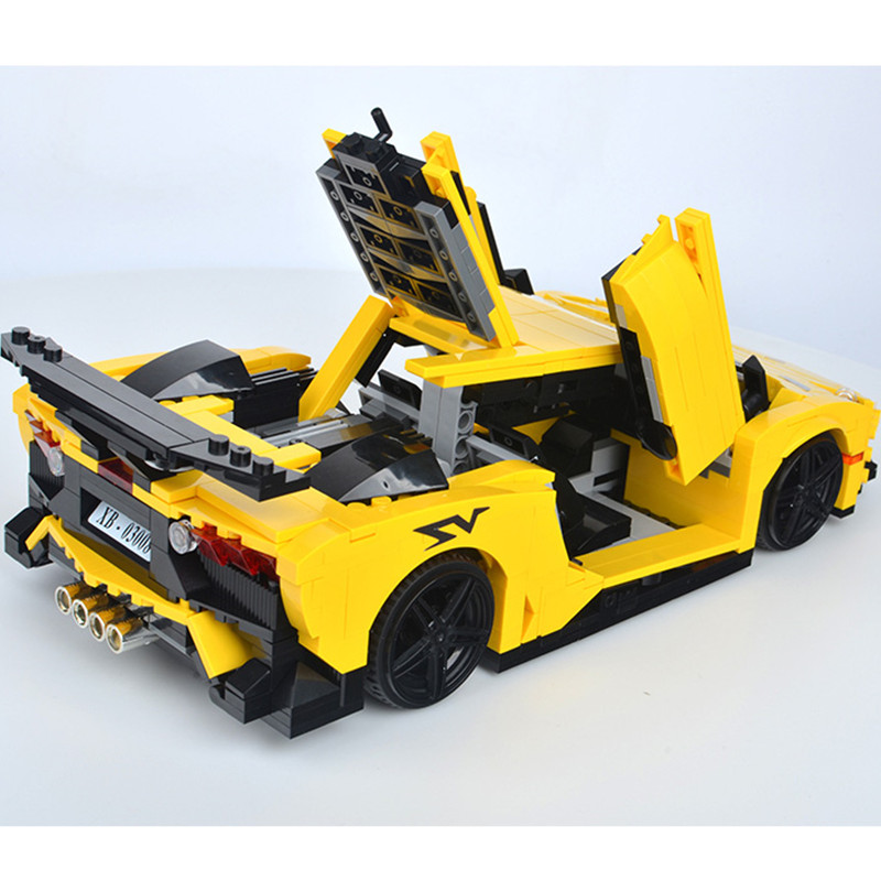 2019 جديد تكنيك زارة التجارة الأصفر Aventadored سيارة اللبنات مجموعات الطوب الكلاسيكية مدينة نموذج الاطفال دمى هدايا متوافق-في حواجز من الألعاب والهوايات على  مجموعة 3