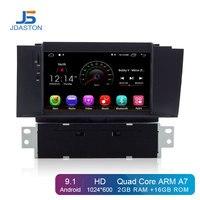 JDASTON Android 9,1 автомобильный dvd плеер для Citroen C4 C4L DS4 мультимедийный видео плеер wifi gps навигация 1 Din Автомобильная Радио Стерео rds система