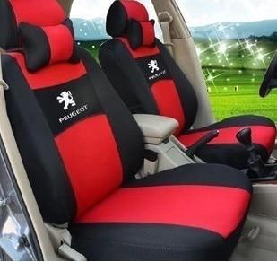 Bonne qualité épaississement en Sandwich siège Auto voiture couvre un  ensemble complet intérieur accessoires pour PEUGEOT