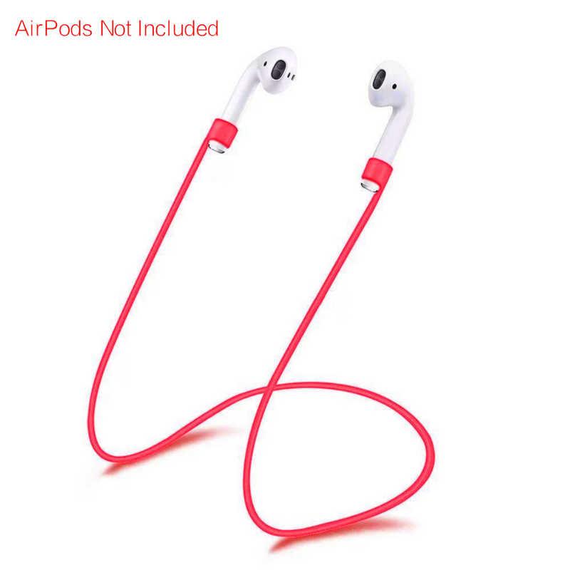 SIFREE anty stracił silikonowy pasek pętli kabel ciąg dla iphone bezprzewodowe słuchawki słuchawki douszne akcesoria