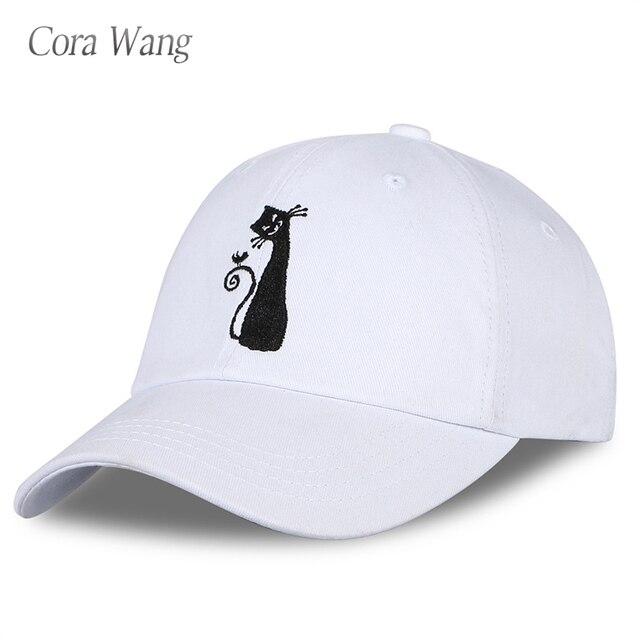 Cora Wang alta calidad gato bordado sombreros hip hop SnapBack gorra de  béisbol ajustable solid Niños 2dbfd6053eb