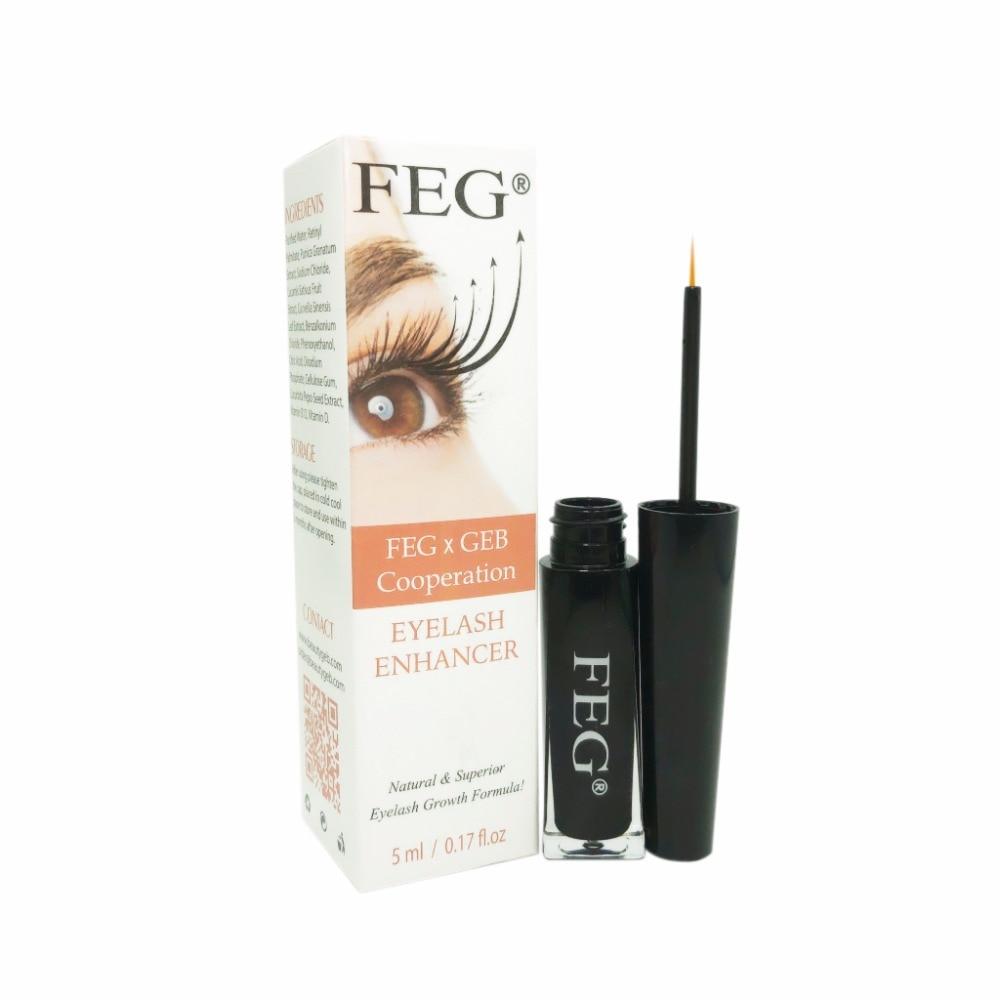 New FEG eyelash enhancer 100% original 2017 GEB cooperation eyelash growth liquid product 5ml serum