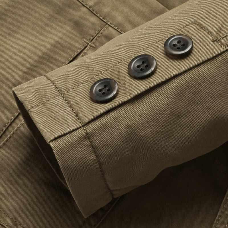 2017 חדש לגמרי בלייזר גברים מקרית בלייזר כותנה ינס Parka גברים של slim fit מעילי צבא ירוק חאקי גדול גודל M -XXXXL D1
