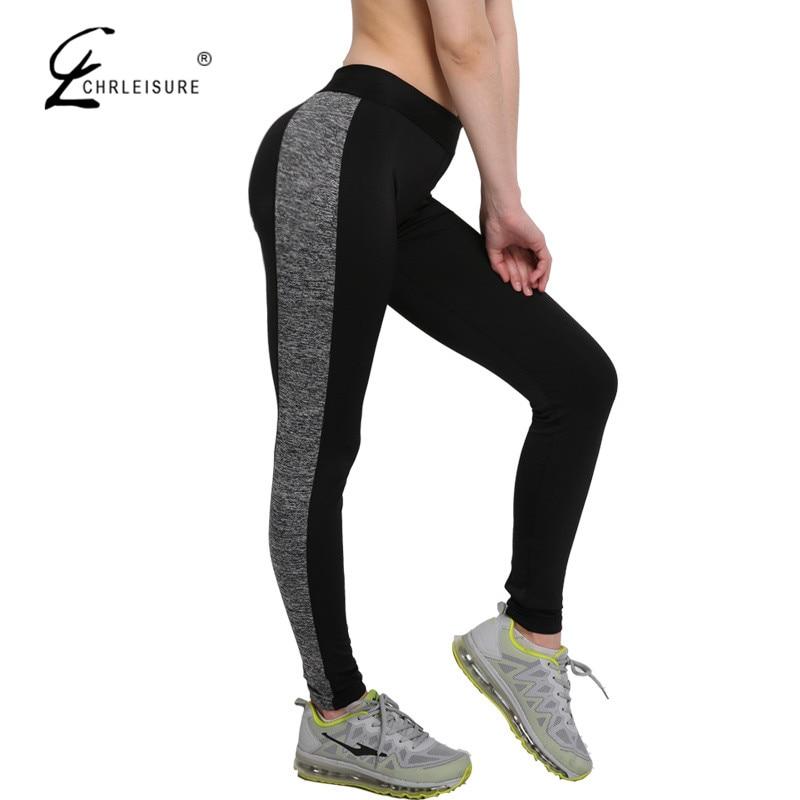 CHRLEISURE S-XL 4 Color Push Up   Leggings   Women Workout Patchwork Polyester Leggins Activewear Quick-drying   Leggings