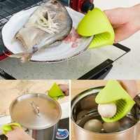Lebensmittel-Grade Silikon Ofen Mit Wärmedämmung Anti-verbrühen Handschuhe Topflappen Prise Griffe für Küche Kochen & Backen