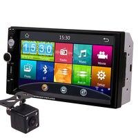 7 Inch Touch Screen 2Din Universal 12V 24V Car Truck Bus Van In Dash Bluetooth Radio