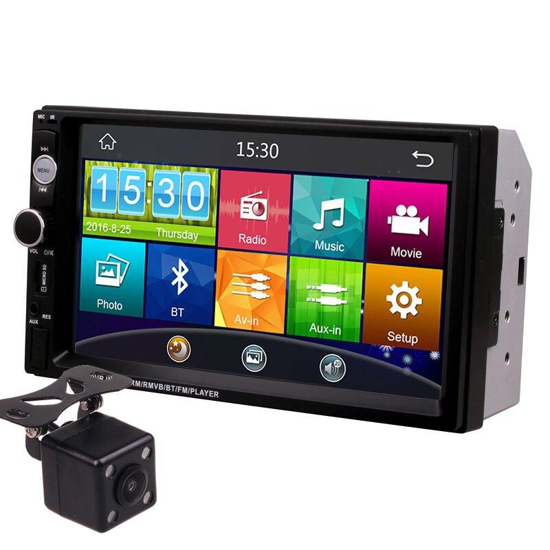 7 дюймов Сенсорный экран 2Din Универсальный 12 В 24 В автомобиль грузовик автобус Ван в тире Bluetooth Радио MP3 MP4 MP5 Media Player Автомагнитолы центры
