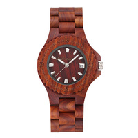 Wrist Quartz Watch Wooden Round Fashion Durable Creative For Women Girl Men Student LL@17