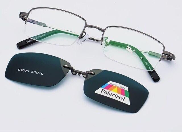 negozio online b23b0 02a12 US $29.9 |Occhiali da sole Clip Magnetica Su Occhiali Da Uomo Miopia Più  Leggero Occhiali Da Uomo Telaio Magnete Clip Classic Eyewear Flexiable Moda  ...