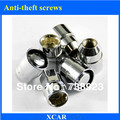 Free shipping!4pcs Car tires Anti-theft screws For nissan Sylphy ,Livna  With 1 PC Key