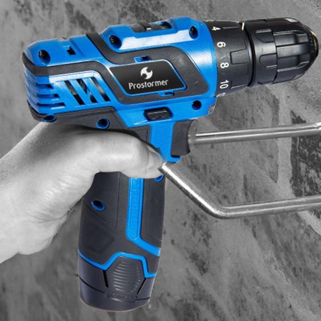 Prostormer12V/3.6V electric drill/screwdriver multifunction handheld convenient woodworking can choose various plugs EU/AU/UK/US 4