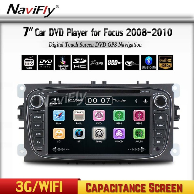 2 Din 7 Inch Car DVD Player For Mondeo/S MAX/Connect/FOCUS 2 2008 ...