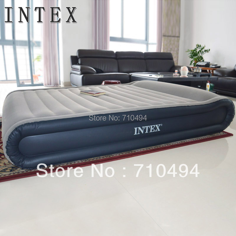 Intex Queen Size Deluxe Mid Rise Pillow Rest Airbed Hand Held AC Electric Pump, free express - Show You The Best store