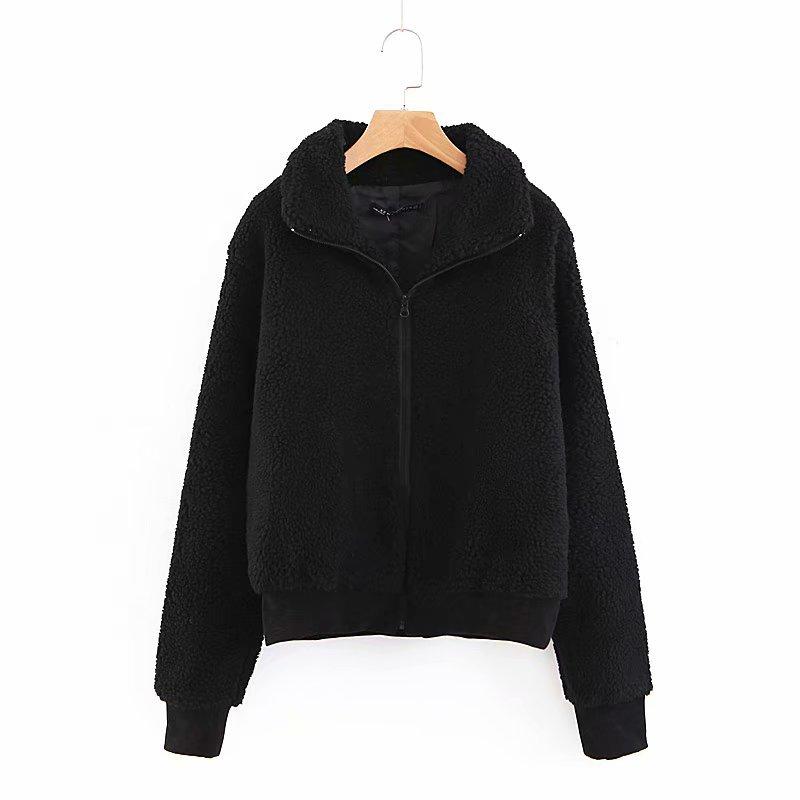 Basic Jackets Generous Hot Sale Xz50-1789 European And American Fashion Black Lamb Fur Coat The Latest Fashion Women's Clothing