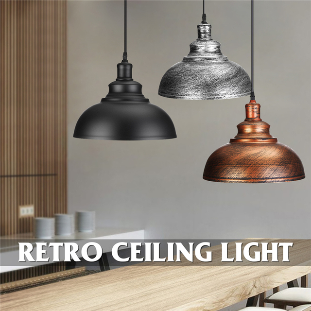 Smuxi 3 Style Pendant Lights Hanging E27 Edison Bulb Night Lamp Fixture Loft Bar