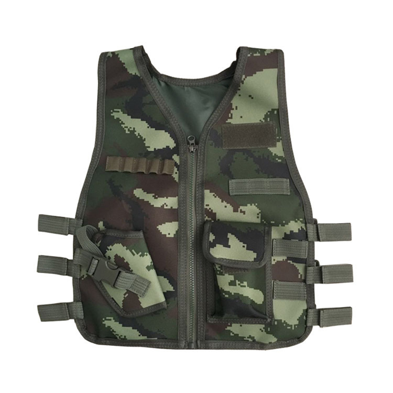 Outdoor Jungle Camouflage Hunting Military Tactical Wargame Body Armor Hunting Vest CS Equipment for Children P20