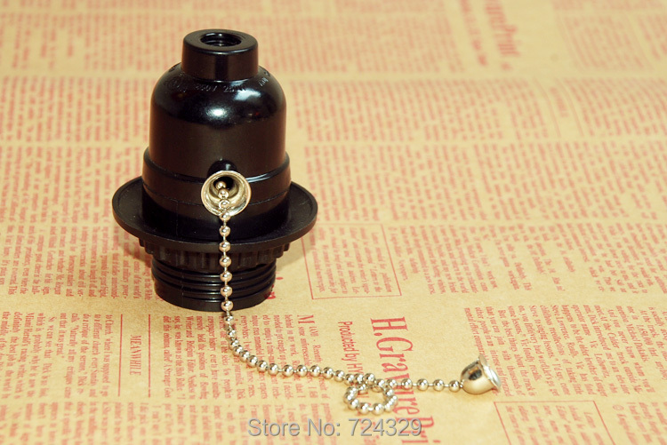 E26E27 бакелитовый держатель лампы на молнии винтажные лампы, Настольная и напольная лампа, легкий Тяговый цепной переключатель, винт, лампа, гнездо 3 шт