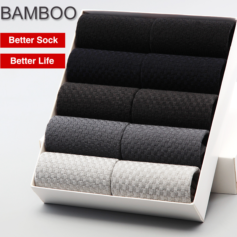 Bendu Brand Guarantee Men Bamboo Socks 10 Pairs / Lot Brethable Anti-Bacterial Deodorant High Quality Guarantee Man Sock